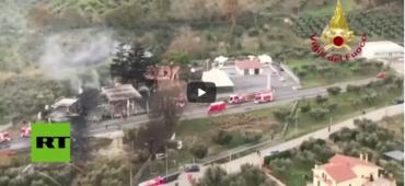 Explosión en una gasolinera de Italia dic. 2018